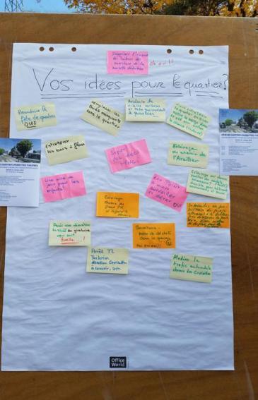 Fête de quartier 2015 de l'association de quartier Croisettes-Tuileries et environs à Epalinges - post-it