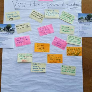 Fête de quartier 2015 de l'association de quartier Croisettes-Tuileries et environs à Epalinges - post-it