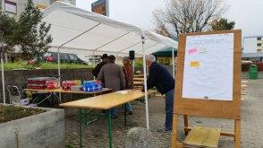 Fête de quartier 2015 de l'association de quartier Croisettes-Tuileries et environs à Epalinges - préparation